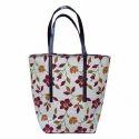 Ladies Floral Print Shopping Hand Bag