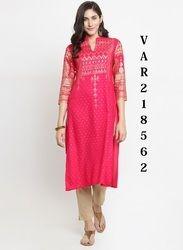 Coloured Rayon Printed Kurti