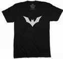 Large And Xxl Yellow White Black Men Bat Symbol Casual T-shirt