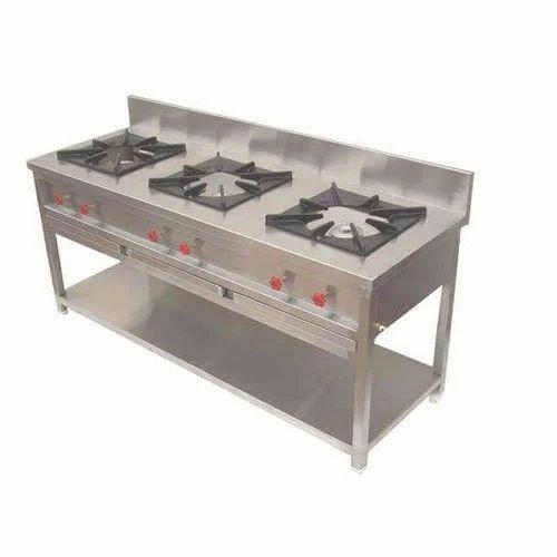 3 Burner Commercial Kitchen Stove
