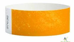 Orange Color Paper Wristband