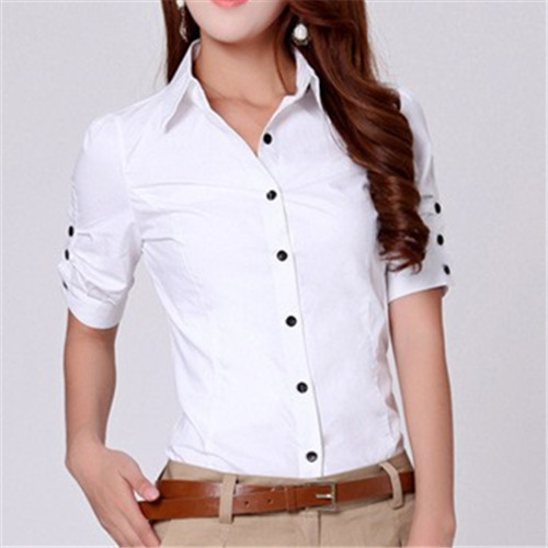 94366d74ff09 White Plain Ladies Cotton Shirt, Rs 399 /piece, New Era | ID ...