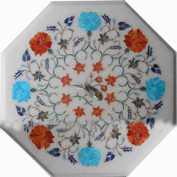 Pietra Dura Table Top, Decorative Marble Table Top