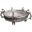 Engraved Silver Antique Bowl