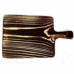 Rectangular Pine Wood Platter with Handle