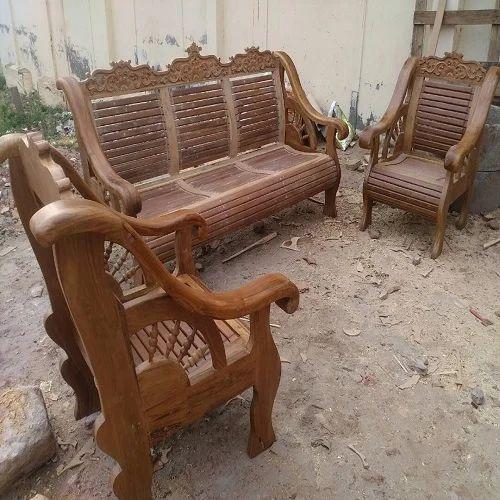 Fabulous Pure Burma Teak Wood Sofa Set Machost Co Dining Chair Design Ideas Machostcouk