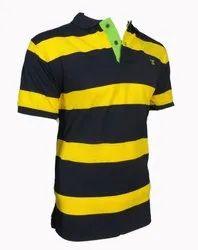 Cotton striped Zock Men T Shirts, Size: Large
