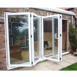 White Aluminium Folding Door