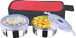 Rema - Dzire Stainless Steel 2 Container Set with Bag