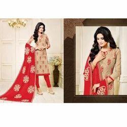 Ladies Designer Embroidered Suit