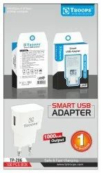 2 WHITE 1000 AH USB ADAPTER, For Mobile Charging