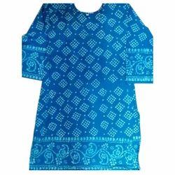 Ladies Blue Cotton Kurti