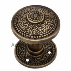 Kabmiel Brass Door Knob with Rose