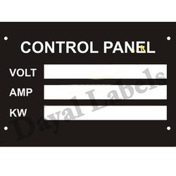 Control Panel Nameplates