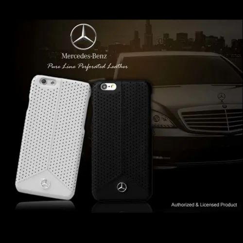sale retailer 4cbef b712a Mercedes Benz Apple iPhone 7/8 Pure Line Perforated Genuine Leather ...