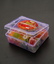 Square 200gm Sugar Coated Jelly Sweets Cube, Packaging Type: Plastic Box Container