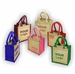 Loop Handle Eco Friendly Jute Printed Shopping Bag