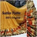Satin Patta Georgette Material Saree With Blouse Piece