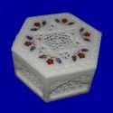 Indian Art Handmade Multi Semi Precise Inlay Painted Box