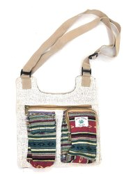 SUVASANA Handmade Hemp Sling Pack Waist Hip Bag Handmade from Pure Hemp Boho Bag Hippie Bag
