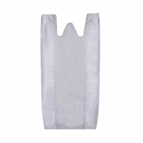 White Plain Non Woven W Cut Bag, Size: 18