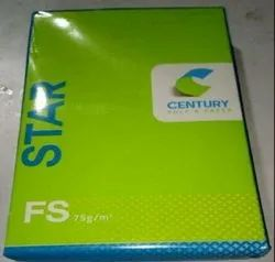 White Century A4 Copier Printing Paper 75 GSM, Packaging Size: 500 Sheets per pack