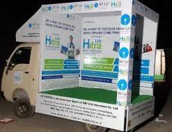 Banner Flex Mobile Vans Advertisement Services, For Outdoor Advertising, Offline