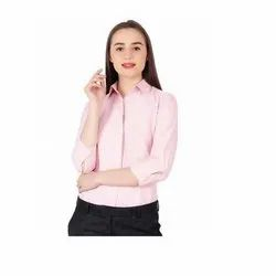 UB-SHI-AUTO-12 Pink Shirt With 3/4th Sleeve For Women