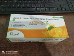Vitamin C, Vitamin D3 & Zinc Sulphate Chewable Tablet