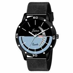 Jainx Multi Color Dial Black Day and Date Function Analogue Watch for Men and Boys JM348