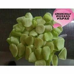 Balaji Enterprises Green Chilli Potato Papad, 12 Months