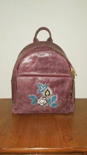 Female Leather School Backpack, Size: Xxs - 6xl