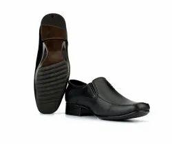 Black Slip On Mens PU Leather Formal Shoes