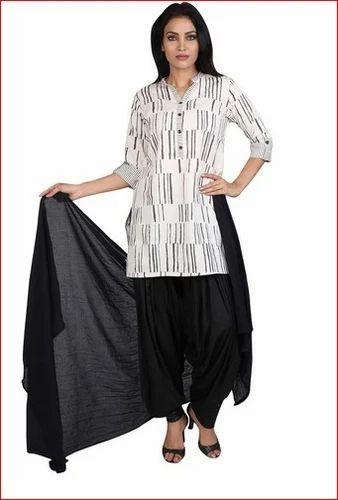 c89c85f3d7 Vastra Vinod Cotton Ladies Kurti Salwar Set at Rs 1599 /piece ...