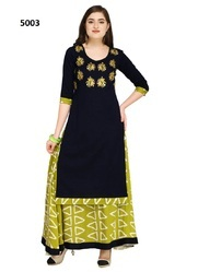 Cotton Embroidered Palazzo Kameez