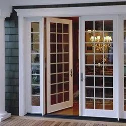 Hinged Toughened Glass UPVC French Doors, 5 Mm, Exterior