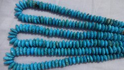 Turquoise German Cut Beads, Wheel Cut German Cutting, Disc Beads, String Necklace,