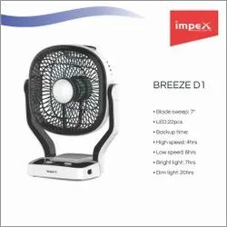Solar Rechargeable Fan (BREEZE D1)