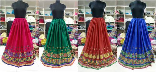 Long Multicolor Cotton Skirt