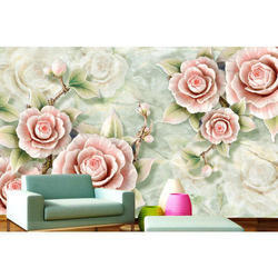 Floral And Horizontal And Vertical 3d Floral Wallpaper