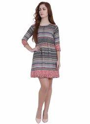 Printed Western Dress