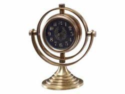Sphere Design Brass Table Clock
