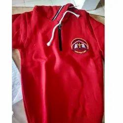 Full Sleeve Red,White School Uniform Sweater In Jacket