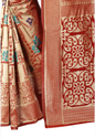 Barkha Jacquard Silk Saree With Rich Pallu