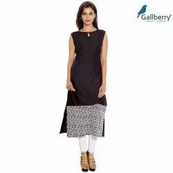 Ladies Sleeveless Cotton Kurti