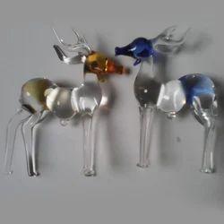 Transparent Glass Deer Statue