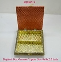 Dry Fruit Box German Copper