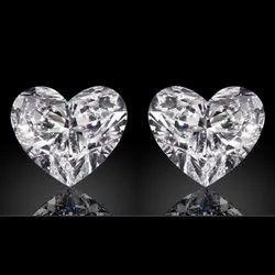 GH VVS  Heart Moissanite Diamond