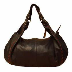 Women Solid Spice Art Submarino Leather Brown Handbag