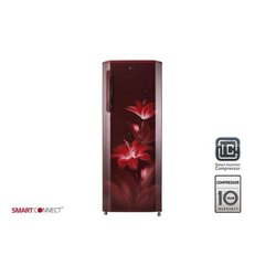 3 Shelves LG 270 Litre Single Door Refrigerator, Electricity